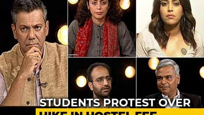 JNU Students March To Parliament Against Fee Hike