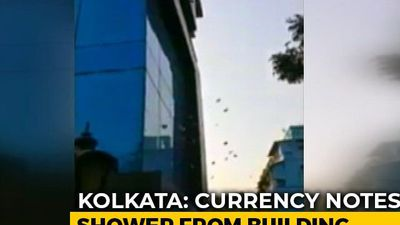 Watch: Shower Of Currency Notes From Building In Kolkata During Search