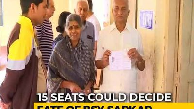 Voting Begins In 15 Assembly Constituencies In Karnataka Bypolls