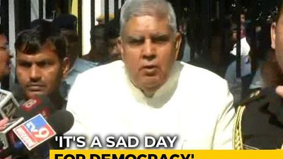 """Why Is Gate Closed?"" Bengal Governor Holds Press Meet Outside Assembly"