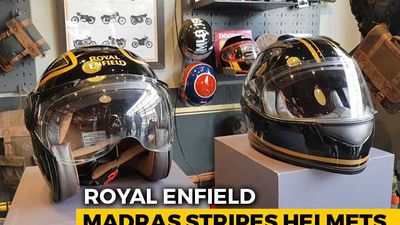 Royal Enfield Madras Stripes Helmets