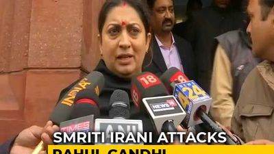 """Is Every Man In India A Rapist?"": Smriti Irani On Rahul Gandhi's Remark"