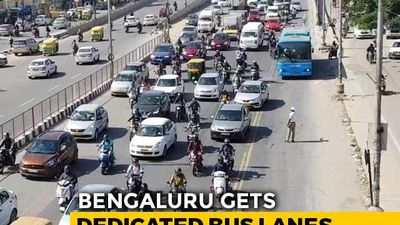 Bengaluru Gets Dedicated Bus Lanes To Cut Down Commute Time