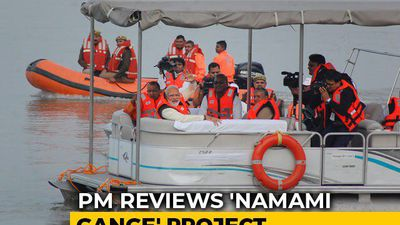 On Streamer Ride, PM Modi Reviews Namami Gange Project In Kanpur