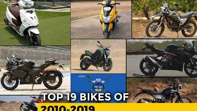 Top 19 Two-Wheelers Of The Last Decade: 2010-2019
