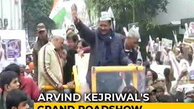 Arvind Kejriwal's Big Roadshow Before Filing Nomination For Delhi Polls