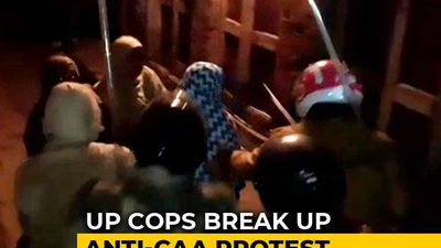 On Camera, Women At CAA Protest In UP Chased, Thrashed By Cops