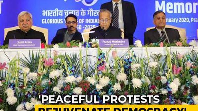 Amid CAA Protests, Pranab Mukherjee Talks Of Authoritarianism, Dissent