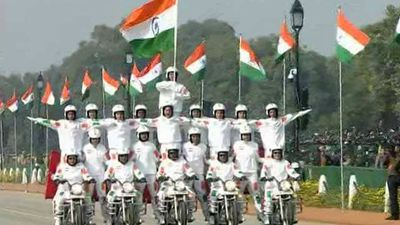 All-Women CRPF Bike Contingent Makes Stellar Debut At 71st Republic Day