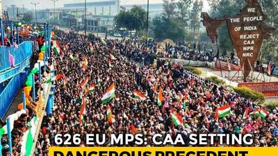 """Entirely Internal"": India As 600 EU Lawmakers Move Anti-CAA Resolutions"