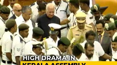 Blocked By Opposition MLAs, Kerala Governor Escorted By Marshals
