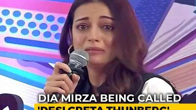 """Desi Greta Thunberg"": Actor Dia Mirza Trolled For Breaking Down At Event"