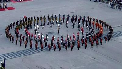 Beating Retreat Ceremony At Raisina Hill