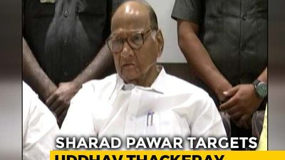 Sharad Pawar Targets Uddhav Thackeray On Transfer Of Bhima-Koregaon Case