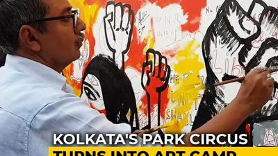 Artists Protest Against CAA With Paint, Brush In Kolkata