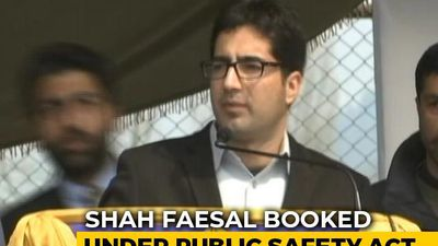 J&K Leader Shah Faesal Detained Under Stringent Public Safety Act