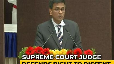 "Supreme Court Judge Warns Against ""Labelling Dissent As Anti-National"""