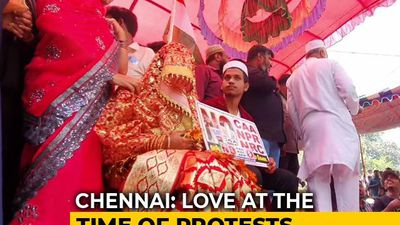 """CAA Should Be Repealed"": Chennai Couple Gets Married At Protest"