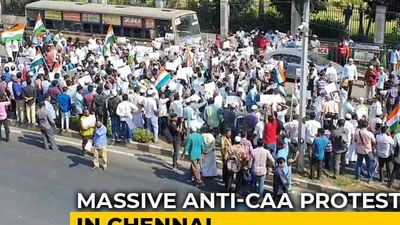 Thousands March In Chennai Against Citizenship Law