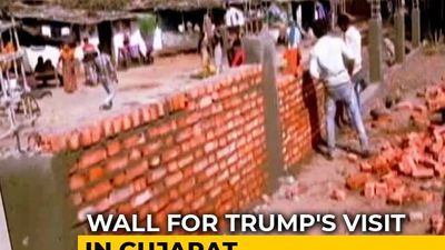 New 4-Foot Wall To Hide Slums From President Trump's View In Ahmedabad