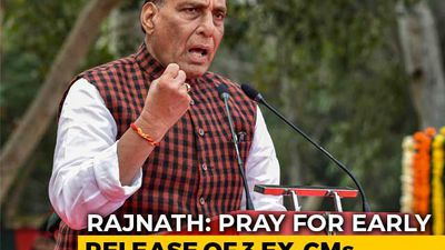 I Pray For Early Release Of Abdullahs, Mehbooba Mufti: Rajnath Singh