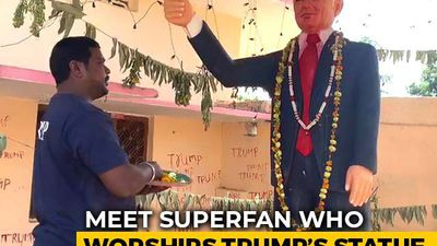 Meet Trump Superfan Who Worships 6-Feet Statue Of US President
