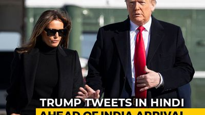 Donald Trump Tweets In Hindi En Route To India
