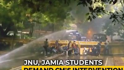 JNU, Jamia Students Protest Near Arvind Kejriwal Home, Water Cannons Used