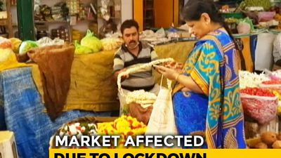 Bengaluru's Vegetable And Flower Market Affected Due To Lockdown