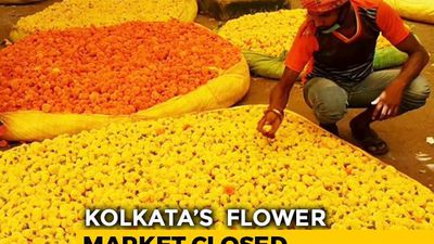 Asia's Largest Flower Market In Kolkata Closed