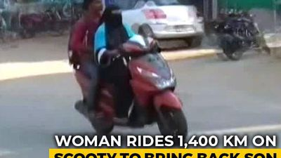 Telangana Woman Rides 1,400 km To Bring Back Son Stranded In Andhra