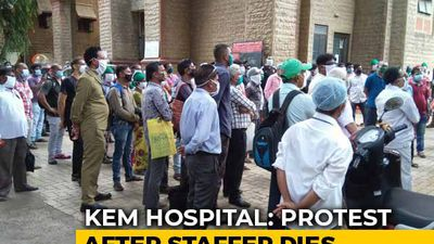 Protest At Mumbai Hospital Over Death Of Staff Allegedly Denied Sick Leave