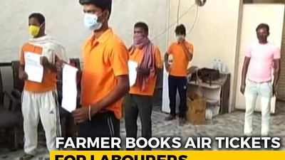 Delhi Farmer Spends Rs 70,000 On Air Tickets To Send 10 Migrants Home