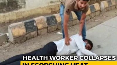 Madhya Pradesh Health Worker Collapses In Heat, No Help For 25 Minutes