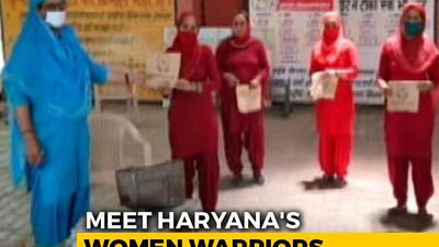 Protecting Haryana's Women Coronavirus Warriors
