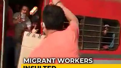 On Camera, Railway Officer In UP Throws Biscuits At Migrants, Abuses Them