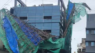Temporary Structure Atop Bandra Building Collapses As Cyclone Nisarga Brings Wind, Rain