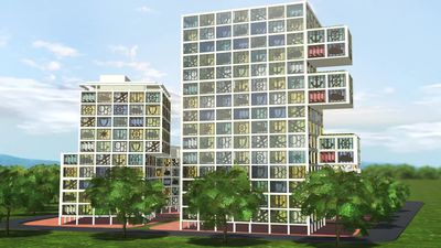 Jenga-like architectural building project planned for Germany