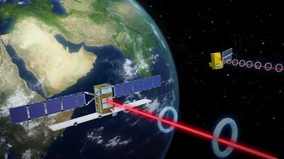 Europe launches laser satellite to space
