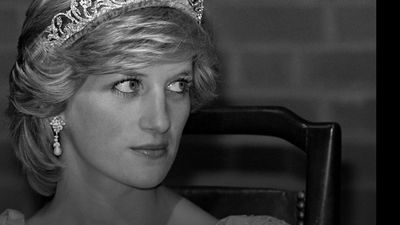Princess Diana in profile