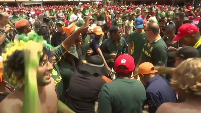 Rugby fans in South Africa rejoice at Rugby World Cup