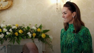 Kate goes green on a trip to the Emerald Isle