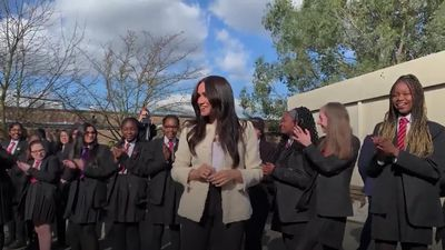 Amazing response to Meghan's surprise visit to school