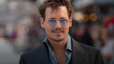 Johnny Depp in profile