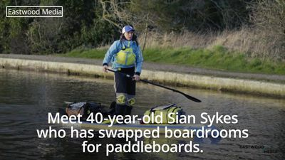 City worker ditches London life for paddleboarding