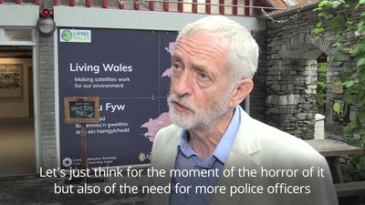 Jeremy Corbyn 'totally shocked' by death of police officer in Berkshire