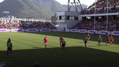 Rugby World Cup: Wales train in front of 15,000 rugby fans in Japan