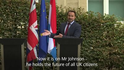 Boris Johnson cancels Luxembourg press conference amid protests