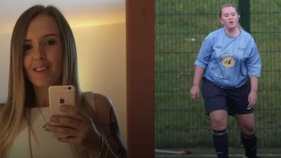 Footballer loses over five stone after seeing a 'mortifying' snap of herself on the pitch