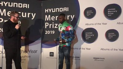 Dave speaks after Mercury Prize win